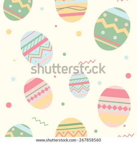 Easter Holiday pattern with eggs - stock vector