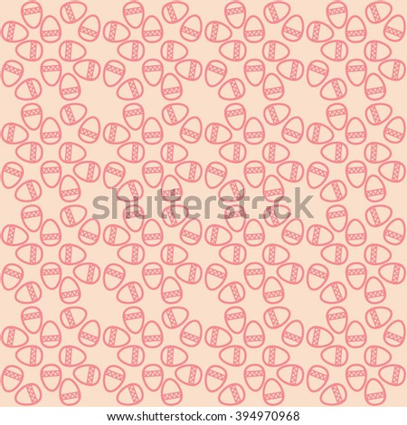 Easter pattern. Vector seamless doodle pattern with Easter eggs.  - stock vector