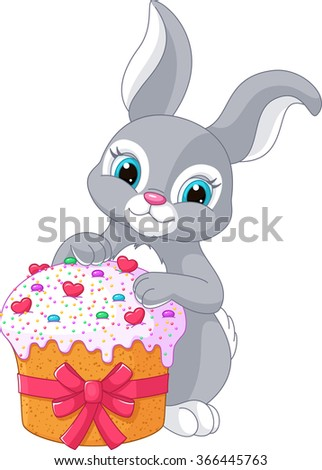 Easter Rabbit and Cake