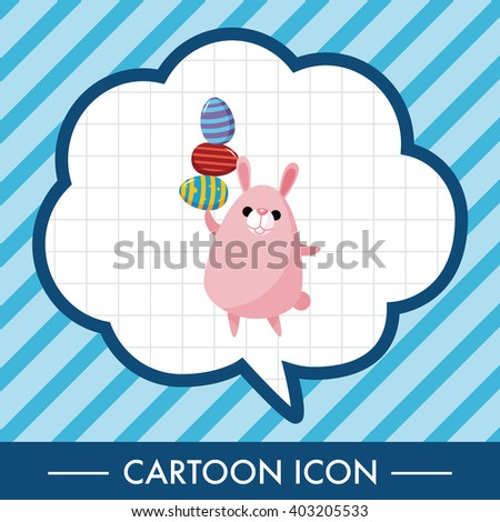 easter rabbit theme element vector,eps