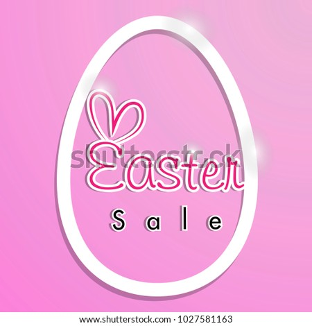 Easter Sale Banner Template Background Beautiful Stock Vector