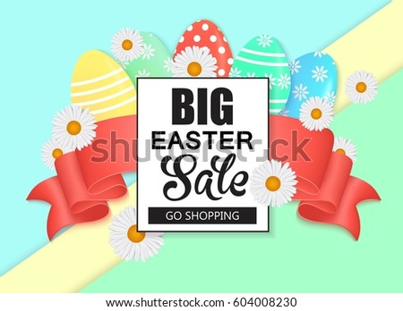 Easter Egg Hunt Vector Illustration Colorful Stock Vector