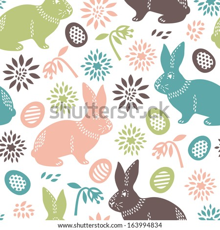 easter seamless background  - stock vector