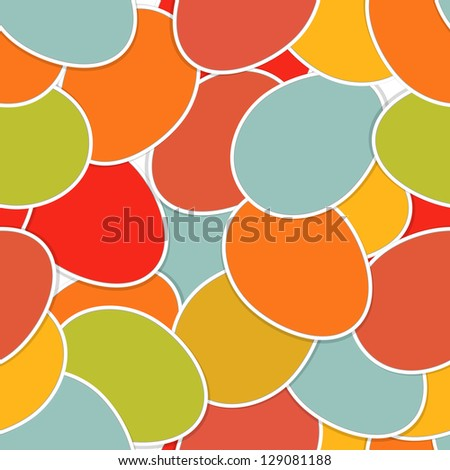 Easter seamless made from colorful eggs. And also includes EPS 8 vector - stock vector
