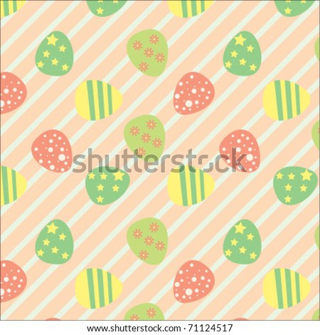 Easter seamless pattern - stock vector