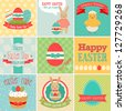 Easter set - greeting cards. Vector illustration. - stock vector