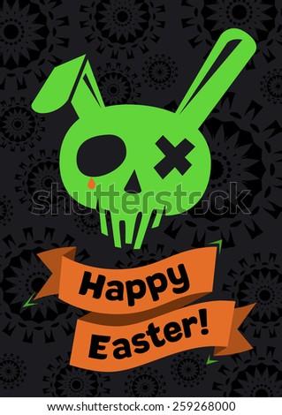 Easter skull - stock vector