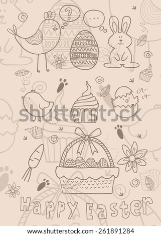 easter story - stock vector