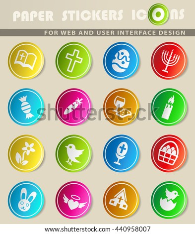 easter web icons for user interface design