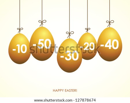 Easter yellow eggs, sale tags
