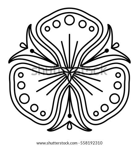 Simple Floral Mandala Pattern Coloring Book Stock Vector