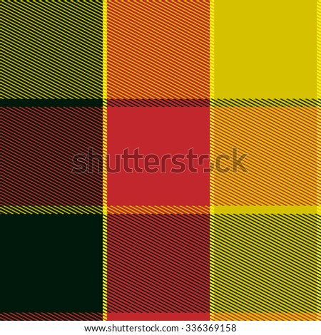 Easy Editable Checkered Plaid Vector Pattern - stock vector