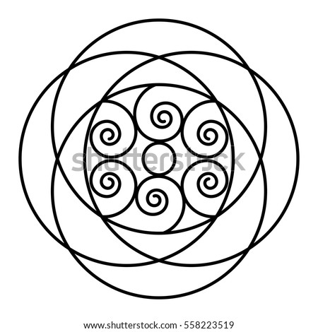 Easy Floral Black White Rose Mandala Stock Vector ...