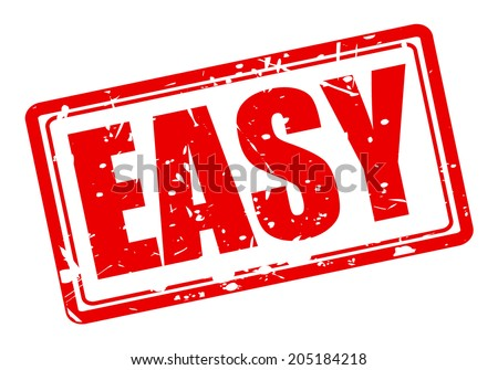 EASY red stamp text on white - stock vector