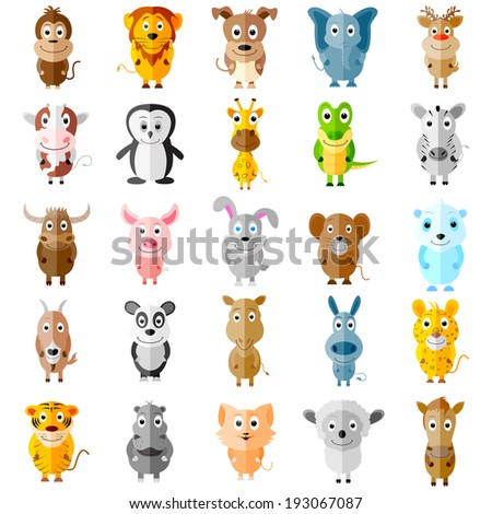 easy to edit vector illustration of animal icons