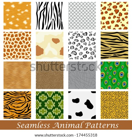 easy to edit vector illustration of animal skin seamless pattern - stock vector