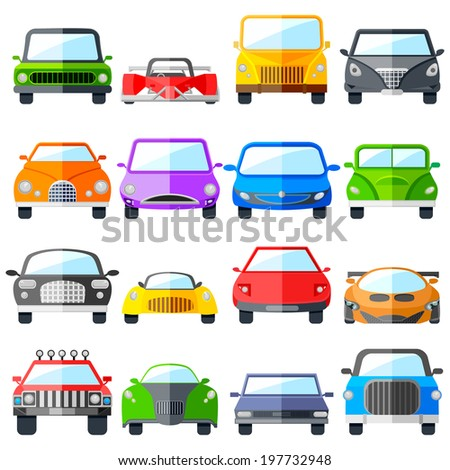 easy to edit vector illustration of car icon set - stock vector
