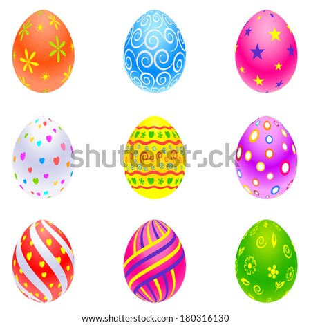 easy to edit vector illustration of colorful Easter Egg - stock vector