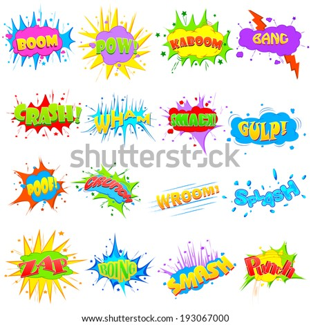 easy to edit vector illustration of comic expression - stock vector