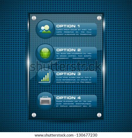 easy to edit vector illustration of glossy infographic chart - stock vector