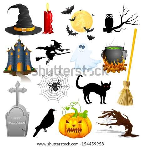 easy to edit vector illustration of Halloween Object - stock vector