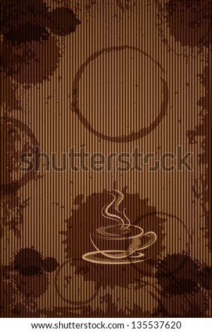 easy to edit vector illustration of hot coffee for cafeteria menu design - stock vector