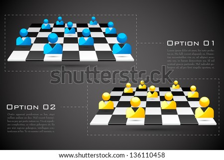 easy to edit vector illustration of human icon on chess board