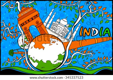 easy to edit vector illustration of Indian Republic Day celebration background