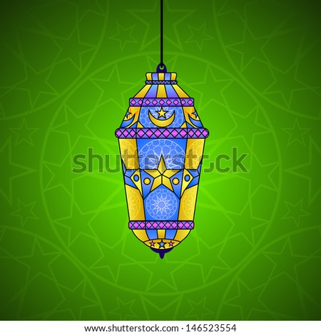 easy to edit vector illustration of lantern for Ramadan Kareem and Eid Mubarak