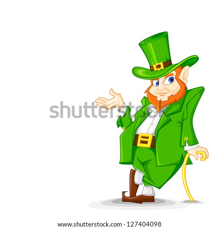 easy to edit vector illustration of Leprachun on Saint Patrick's Day