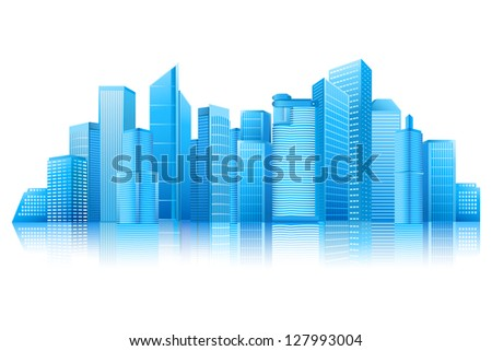 easy to edit vector illustration of modern building - stock vector