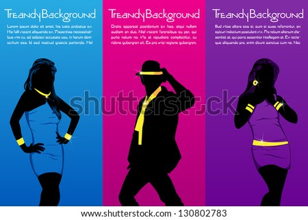 easy to edit vector illustration of people in fashion  poster