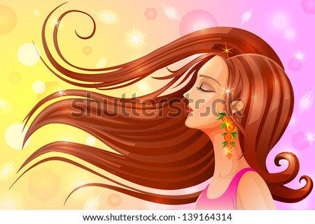 easy to edit vector illustration of portrait of woman