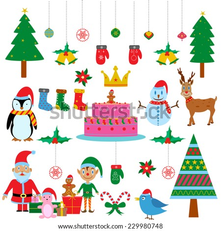 easy to edit vector illustration of Symbol of colourful Christmas Festival - stock vector
