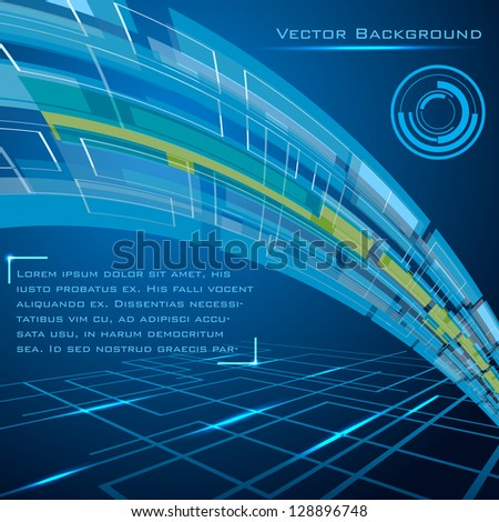 easy to edit vector illustration of technology background - stock vector