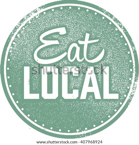 Eat Local Food Stamp - stock vector