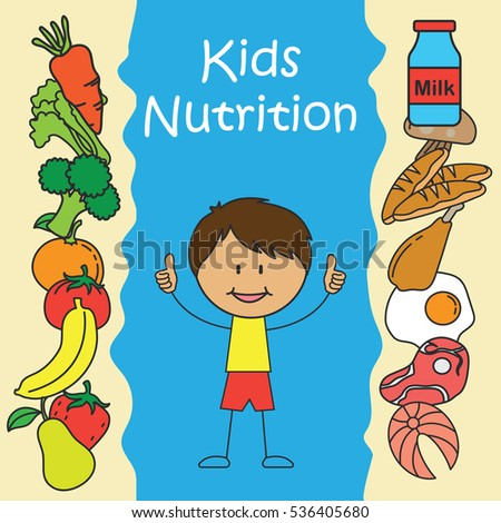 Eating Healthy Kids Campaign Poster Stock Vector 536405689 ...