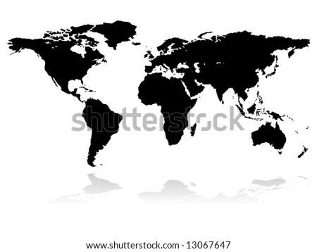 eatrh - continents - stock vector