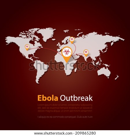 Ebola Virus outbreak . Minimalistic template design . outbreaks concept vector illustration - stock vector