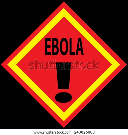 Ebola Warning Concept. Vector