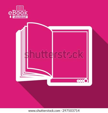 Ebook digital design, vector illustration eps 10 - stock vector