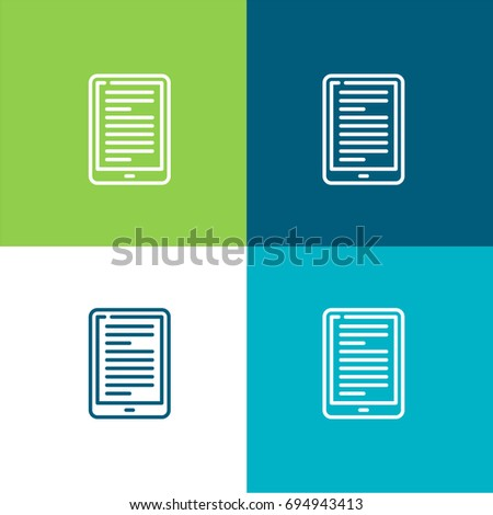 Ebook green blue material color minimal stock vector 694943413 ebook green and blue material color minimal icon or logo design fandeluxe Document