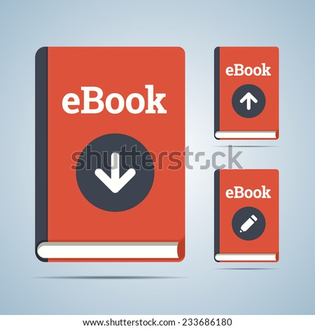eBook illustration in download, upload and edit modifications. - stock vector