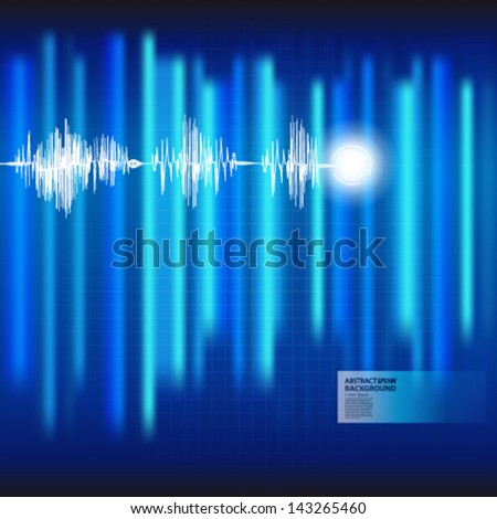 ECG Electrocardiogram medical blue background. Vector.