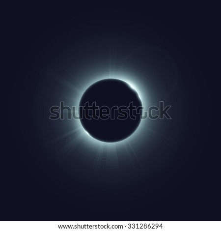 Eclipse of the sun. Vector illustration, eps 10. - stock vector