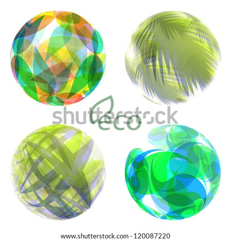 ECO. Abstract green background. - stock vector