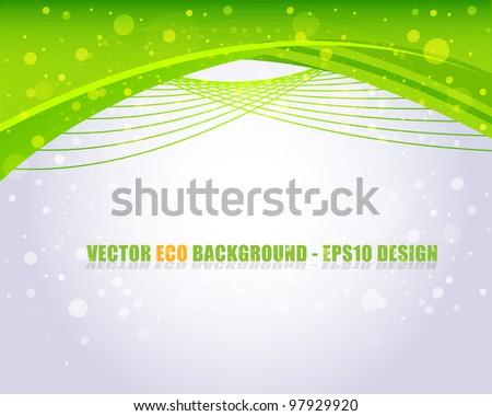 Eco background vector - stock vector