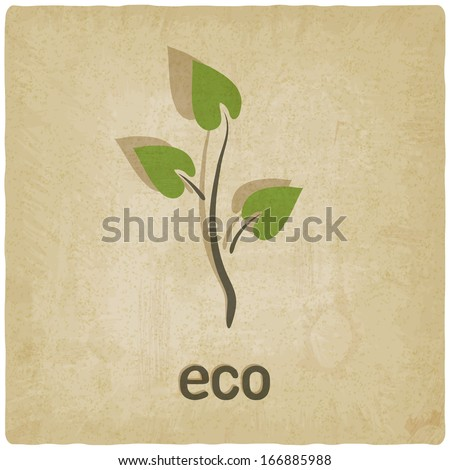 eco background - vector illustration - stock vector