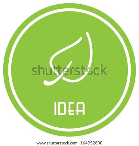 Eco badge - stock vector