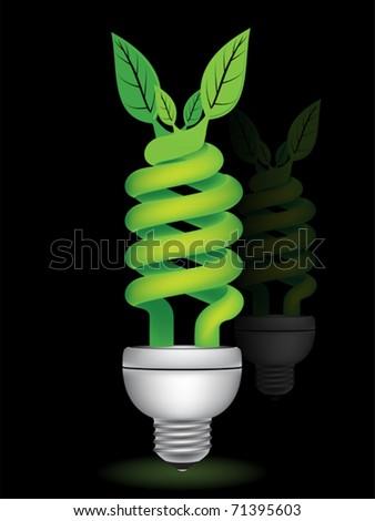 eco bulb - stock vector